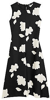 Theory Women's Floral Print Silk Fit & Flare Dress