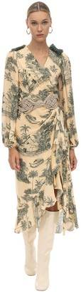 Johanna Ortiz Printed Georgette Wrap Dress