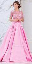 Tarik Ediz Prom Two Piece Rhinestone Embellished Ball Gown