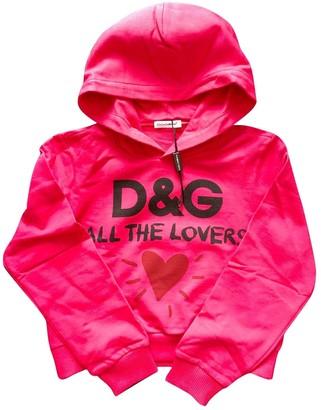 Dolce & Gabbana Pink Cotton Knitwear