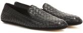 Bottega Veneta Intrecciato Leather Slip-ons