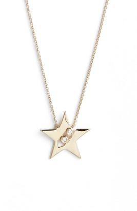 Ef Collection Dana Rebecca Julianne Himiko Diamond Star Pendant Necklace - 0.02 ctw