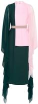 Crepe-chiffon Paneled Midi Dress