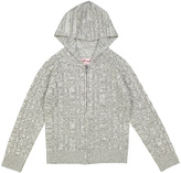 Pink Angel Twist Gray Cable-Knit Zip-Up Hoodie - Infant