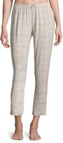Eberjey Floral Garland Stretch Pants, Neutral Pattern