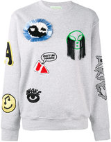 Aries patch embroidered sweatshirt - women - Cotton/Polyester - 2
