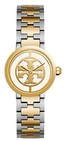 Tory Burch Reva Watch, Two-Tone Rose Gold/Stainless Steel, Ivory, 28 Mm