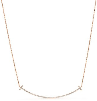 Tiffany & Co. T smile pendant in 18k rose gold with diamonds