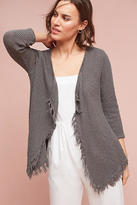 Velvet by Graham & Spencer Textured Fringe Cardigan
