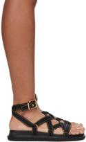 Marni Black Strappy Flat Sandals