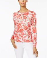 Karen Scott Printed Cardigan, Only at Macy's