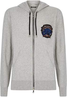 Balmain Knitted Badge Hoodie