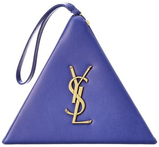 Saint Laurent Pyramid Box Leather Clutch