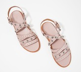Frye Embellished Leather Multi- Strap Sandals - Andora
