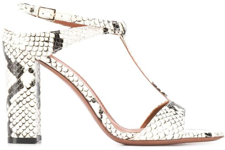 L'Autre Chose python-print 100mm sandals