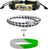 """Alpha Man """" Go """" Combo Of 2 Bracelet For Mens"""