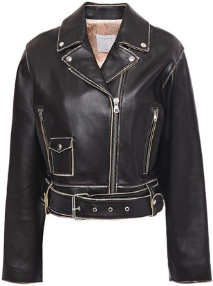 Sandro Shay Leather Biker Jacket
