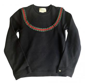 Gucci Black Cotton Knitwear