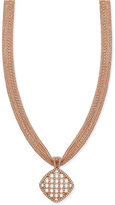 Charter Club Rose Gold-Tone Basket Pendant Necklace, Only at Macy's