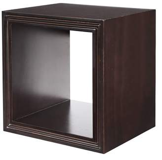 Pottery Barn Teen Wall To Wall Shelving, Cube 10&quot Square, Set of 2, Dark Espresso
