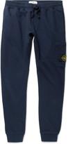 Stone Island Tapered Fleece-Back Cotton-Jersey Sweatpants