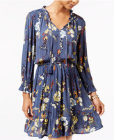 American Rag Ruffled Floral-Print Fit & Flare Dress, Only at Macy's