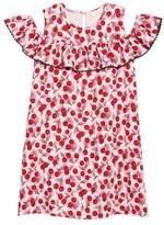 Kate Spade Girl's Ruffle Sleeve Cutout Dress
