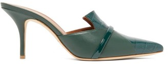 Malone Souliers Dale Crocodile-effect Leather Mules - Womens - Green