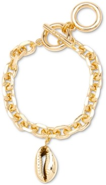 Zenzii Gold Shell Charm Chain Link Bracelet