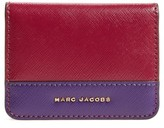 Marc Jacobs Women's Color Block Saffiano Leather Business Card Case - Purple
