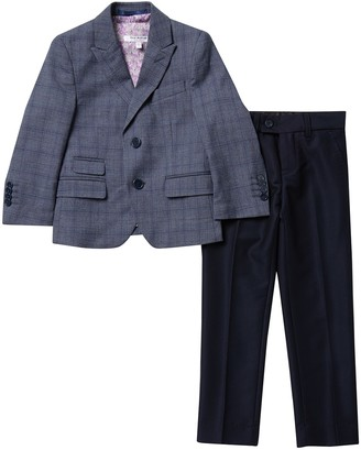 Isaac Mizrahi Slim Fit Multi Check Suit (Toddler, Little Boys, & Big Boys)
