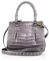 Nancy Gonzalez Crocodile Mini Pliss & #233 Crossbody Bag