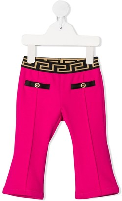 Versace Greca waistband trousers