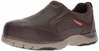 Rockport Mens Kingstin Work Safety Toe Slip-on Oxford Industrial and Construction Shoes