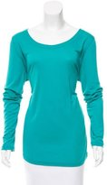Piazza Sempione Long Sleeve Scoop Neck Top w/ Tags