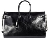 Saint Laurent Sac De Jour Glace Moroder Leather Duffel - Black