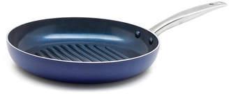 """Blue Diamond Diamond-Infused Ceramic 11"""" Nonstick Round Grill Pan"""