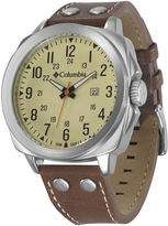 Columbia Cornerstone Mens Brown Leather Lifestyle Watch