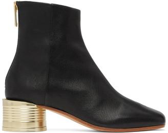 MM6 MAISON MARGIELA Black Low Can Heel Boots