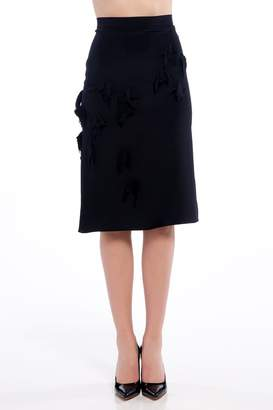 Lee J Js Bird Crepe Skirt
