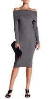 Line & Dot Lea Off-the-Shoulder Dress