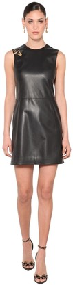 Versace Safety Pin Nappa Leather Mini Dress