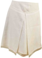 Salvatore Ferragamo White Silk Skirts