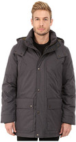 Cole Haan Brushed Flannel Parka w/ Ribknit Collar
