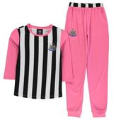 NUFC Kids Jersey Pyjama Set Junior Girls Long Sleeve Crew Top Sleeping Bottoms