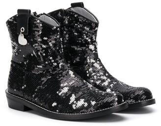 MonnaLisa Sequin Ankle Boots
