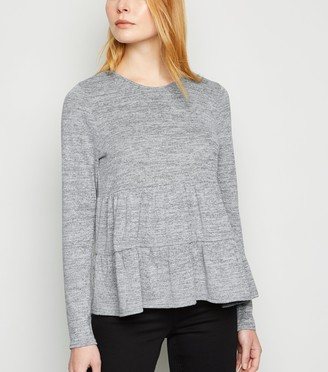 New Look Fine Knit Tiered Long Sleeve Top