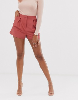 Asos DESIGN tailored a-line shorts with pleat front