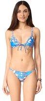 MinkPink Women's Aquabomb Triangle Bikini Top