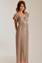 Rebecca Beeson Houndstooth Print Maxi Dress in Chocolate Chip